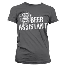 Charger l'image dans la galerie, GAS MONKEY - T-Shirt Beer Assistant GIRL - Grey (S)