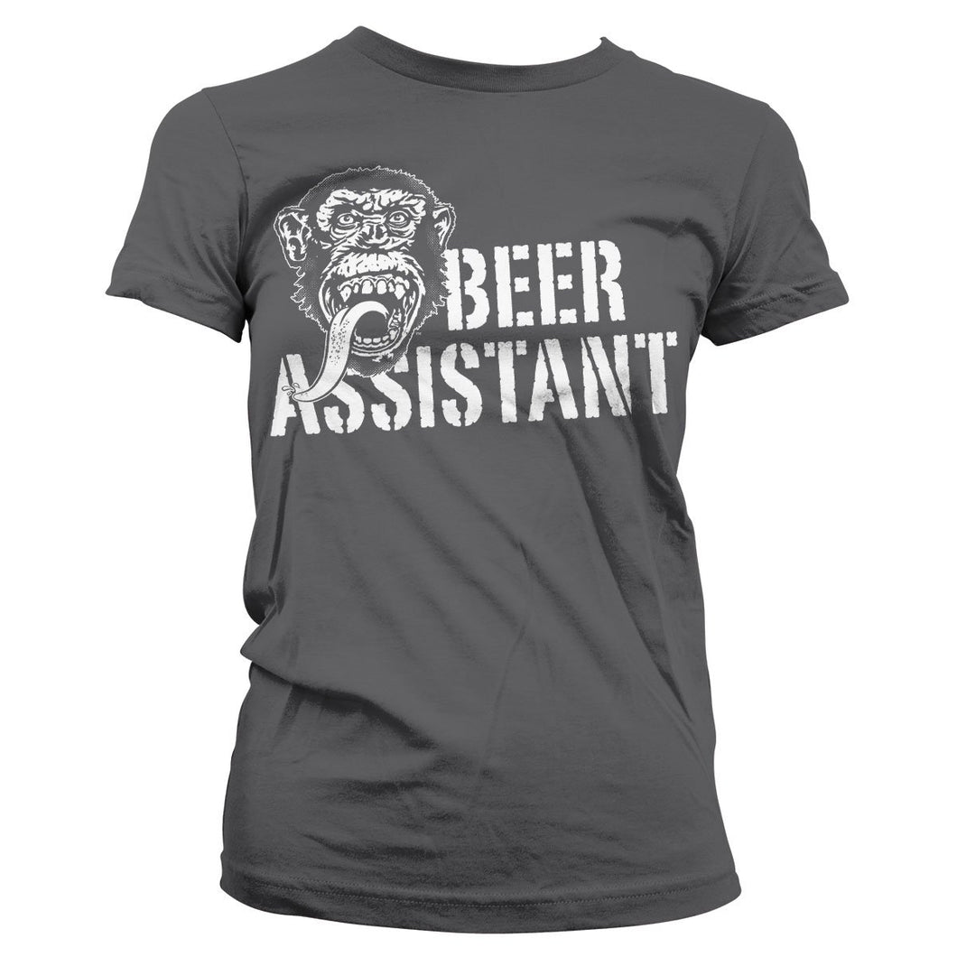 GAS MONKEY - T-Shirt Beer Assistant GIRL - Grey (S)
