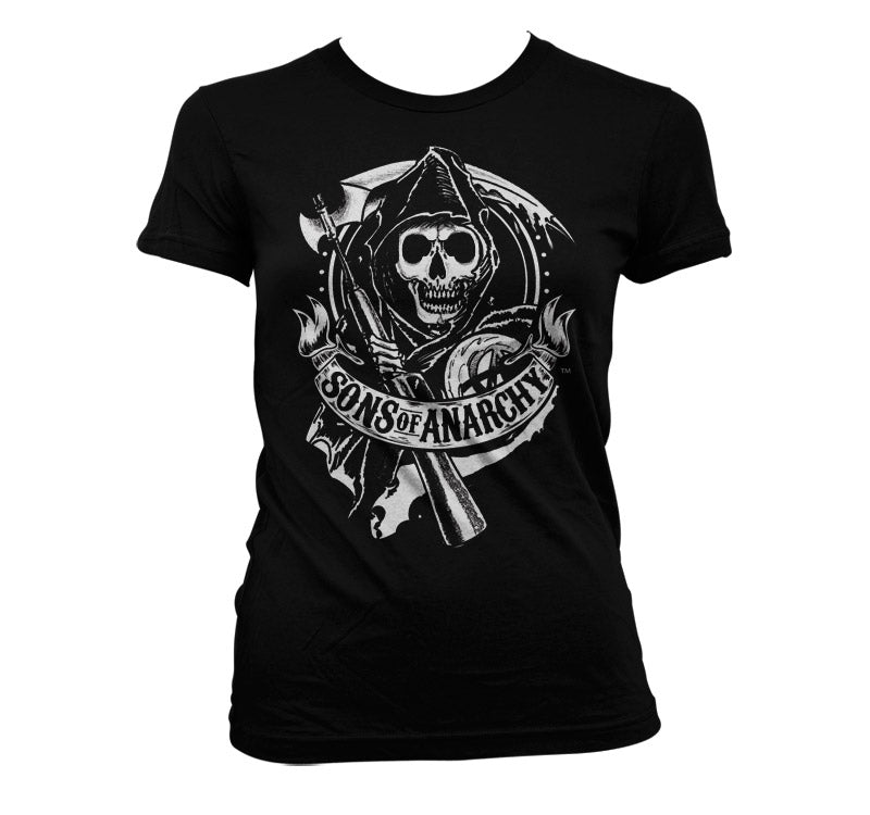 SONS OF ANARCHY - T-Shirt Scroll Reaper - GIRL (XL)