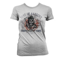 Charger l'image dans la galerie, SONS OF ANARCHY - T-Shirt Distressed Flag - GIRL (XL)