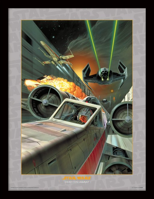 STAR WARS - Collector Print HQ 32X42 - Death Star Assault