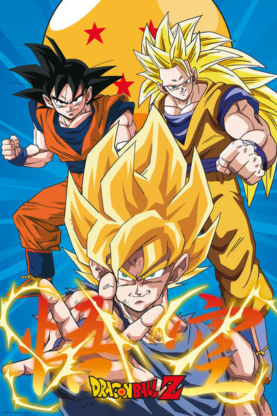 DRAGON BALL Z - Poster 61X91 - 3 Gokus Evo