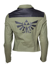 Charger l'image dans la galerie, ZELDA - Biker Jacket with Triforce Logo - GIRL (XL)