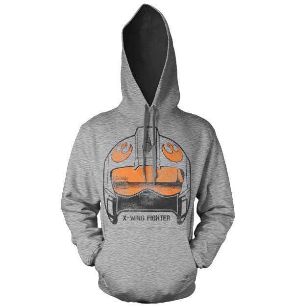 STAR WARS - Sweatshirt X-Wing Fighter Helmet - H.Grey (XXL)