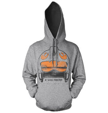 Charger l'image dans la galerie, STAR WARS - Sweatshirt X-Wing Fighter Helmet - H.Grey (XXL)