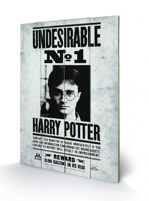 HARRY POTTER - Undesirable N° 1 - Impression sur bois 40x59cm