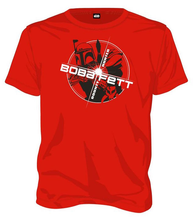 STAR WARS - T-Shirt Boba Fett Bounty Hunter - Red (M)