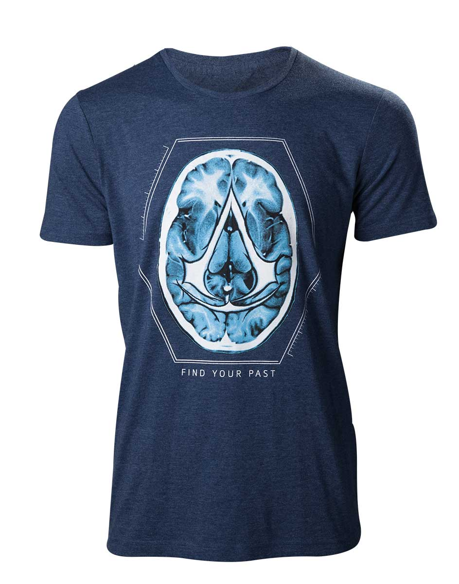 ASSASSIN'S CREED MOVIE- T-Shirt Find your Past Brain Crest (M)