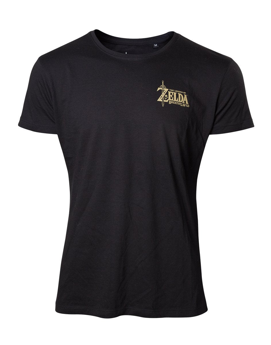 ZELDA BREATH OF THE WILD- T-Shirt Gold Game Logo (S)
