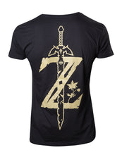 Charger l'image dans la galerie, ZELDA BREATH OF THE WILD- T-Shirt Gold Game Logo (XXL)