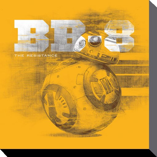 STAR WARS - Canvas 40X40 '38mm' - Episode VII - BB-8