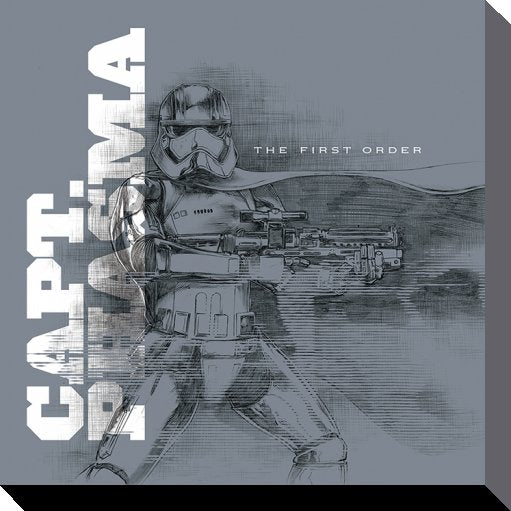 STAR WARS - Canvas 40X40 '38mm' - Episode VII - Captain Phasma Grey