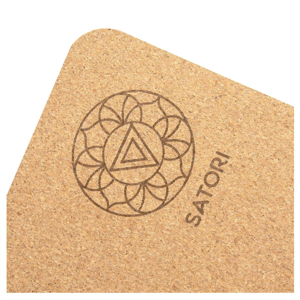 OM Instruction Cork Yoga Mat - Satori Concept