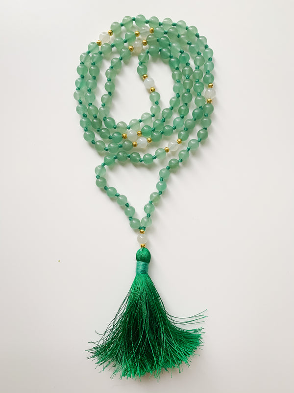 Aventurine Mala Necklace