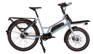 Grey CERO One with a rear rack and a Platform on the front