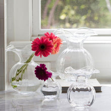 Load image into Gallery viewer, Hibiscus Clear Ruffle Vase