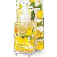 Lemon Basil Foaming Hand Soap Napkin Set
