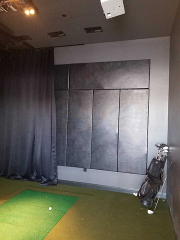 Wall safety pads for golf