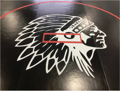 Chieftain head digitally printed  AK Athletic Equipment