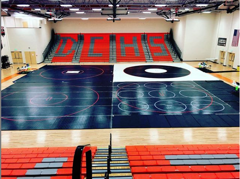 Competition wrestling mats