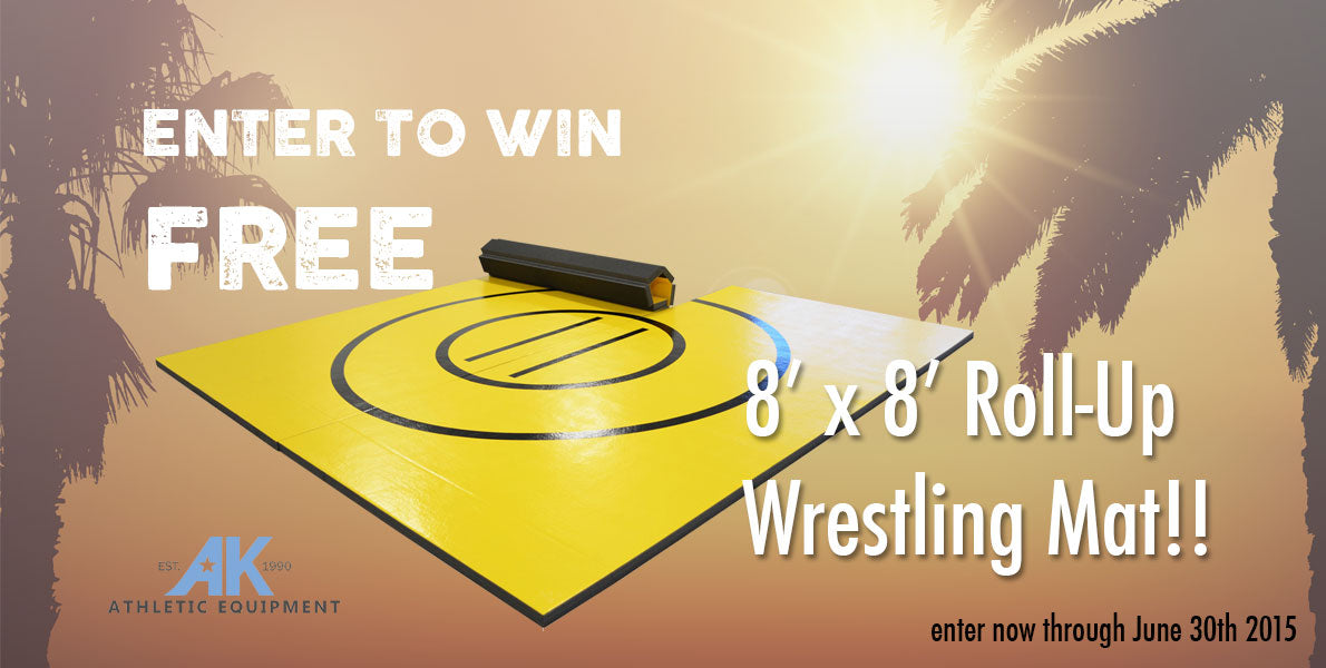 Enter to win an 8' x 8' Wrestling Mat