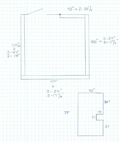 Wall Pad Layout Drawing