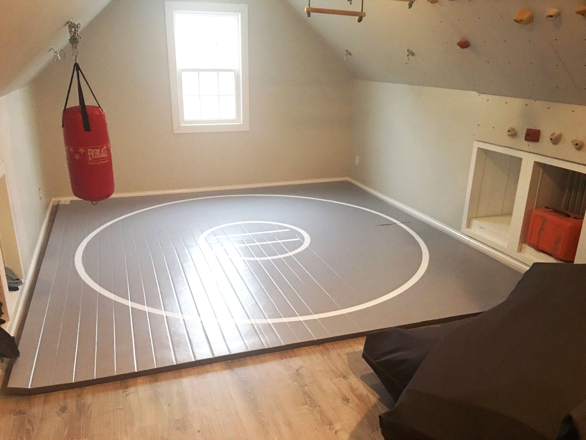 Gray Home Training Wrestling Mat