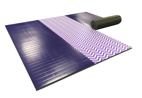 "Gymnastics Chevron 12' x 12' x 1 3/8"" Roll-Up Tumbling Mat"