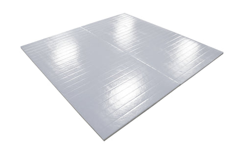 gray roll up martial arts mats
