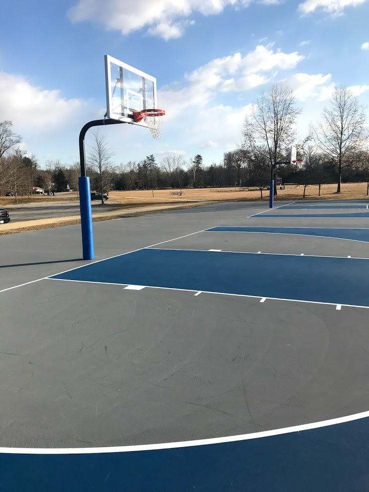 outdoor basketball pole pads