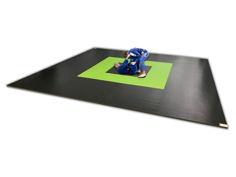 "Martial Arts 20' x 20' x 1 3/8"" Roll-Up Competition Flooring"