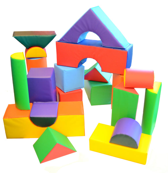 Soft Play 21 Piece Block Set Ak Athletic Equipment