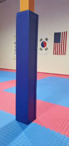 Martial Art studio square pole pad cover