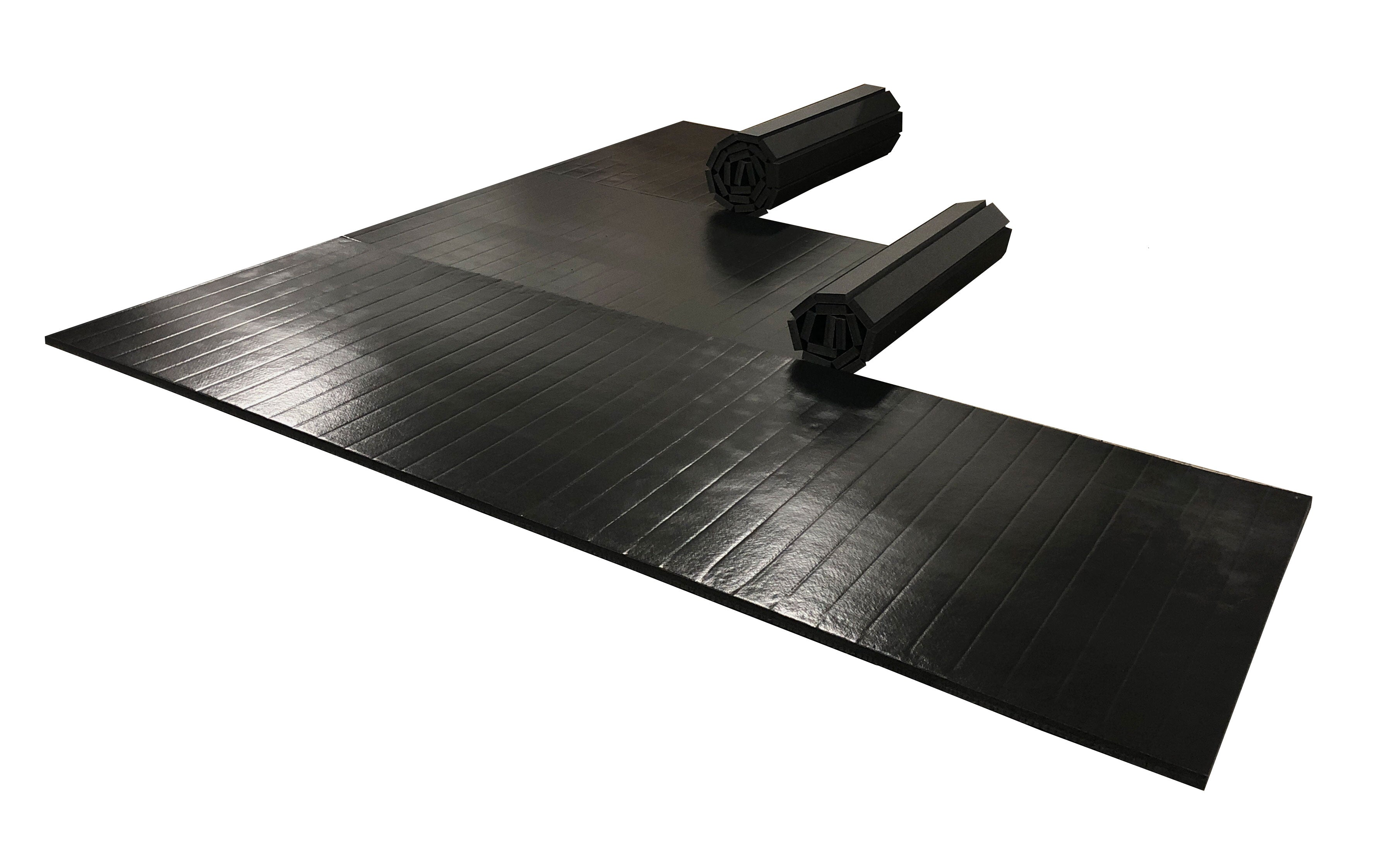 Black martial arts mat