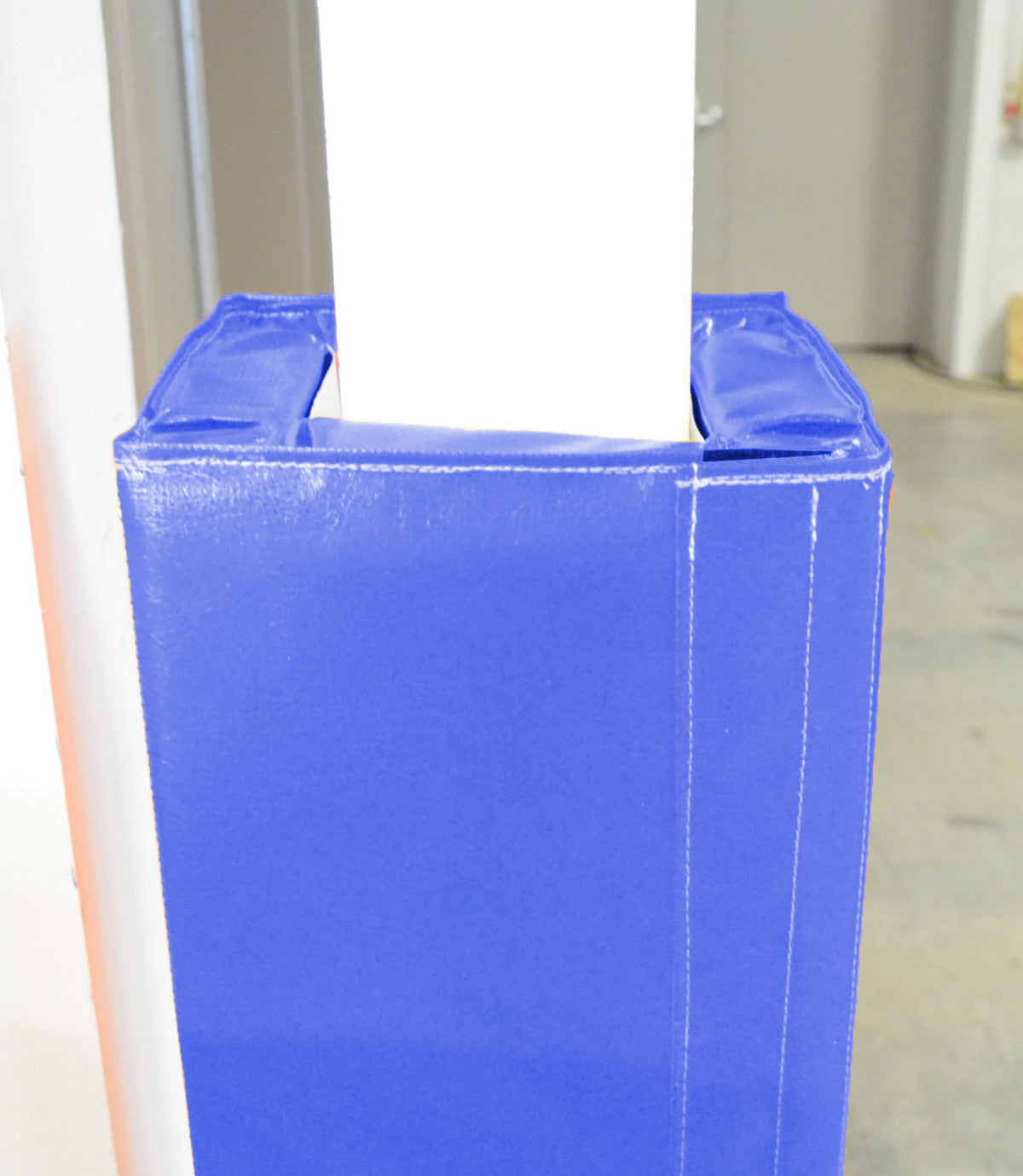blue velcro column pad