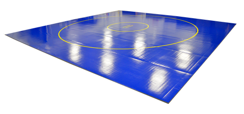 AK Athletics Middle School Blue Wrestling Mat