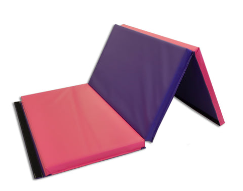 "Holiday Shop 4' x 6' x 2"" Intermediate Level Folding Panel Gymnastic Mat"