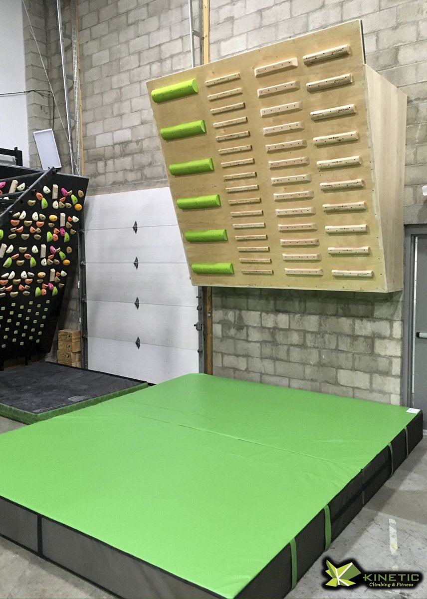 Custom lime green climbing wall crash mat - Kenetic Columbus