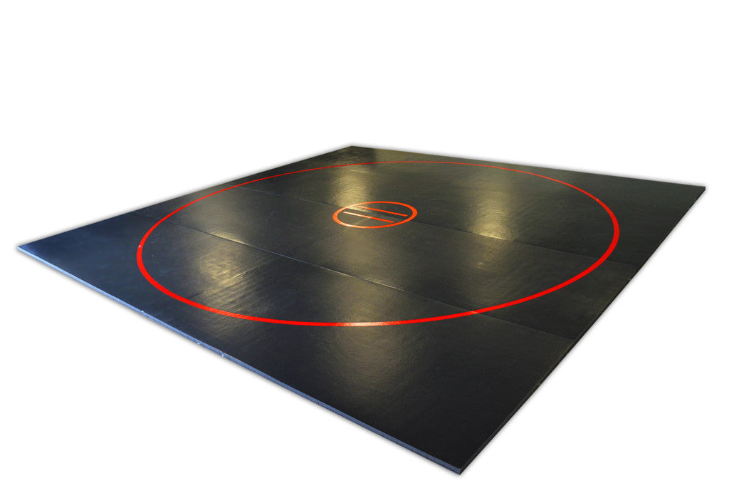 Ak athletics review 12' black wrestling mat