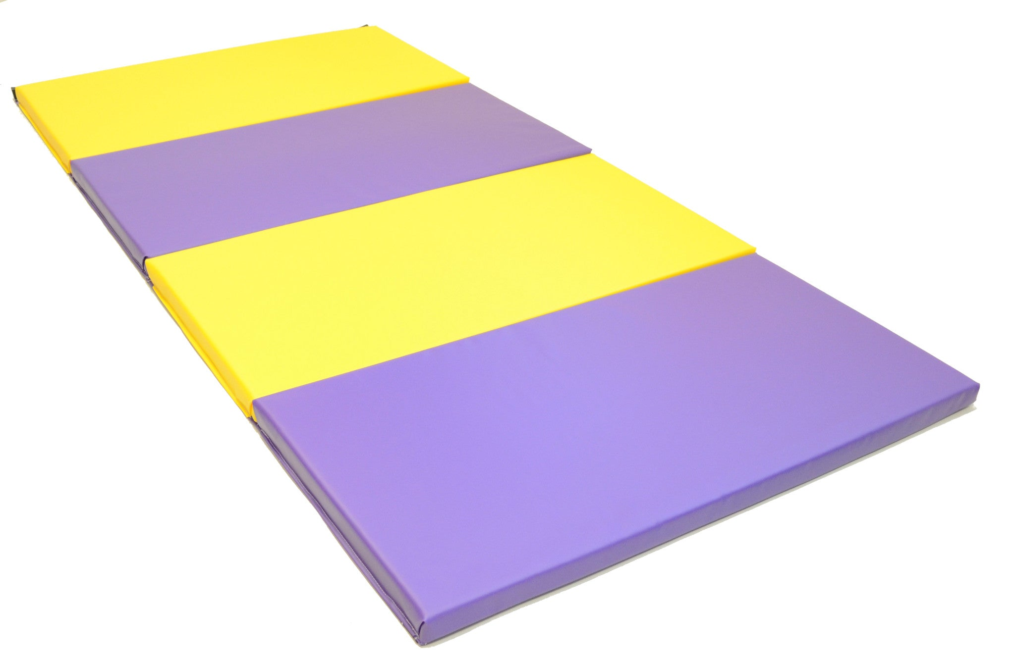 "SALE! Purple and Yellow 4' x 8' x 2"" Folding Gymnastics Mat  Intermediate Level"