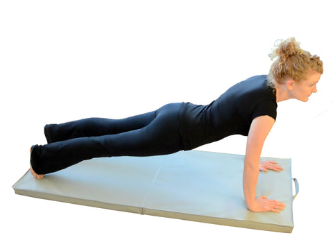 "Bi-Fold Exercise Mat with Handles - 24"" x 72"" x 2"""