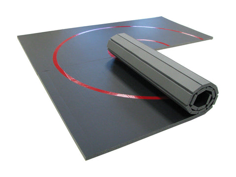 "10' x 10' x 1 3/8"" Roll-Up Wrestling Mat"