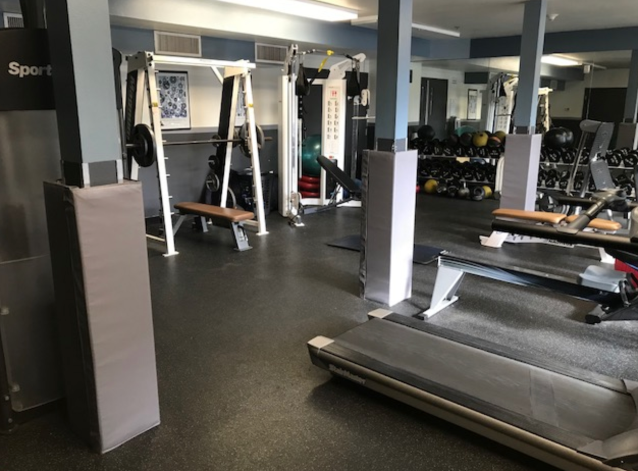 workout space column padding