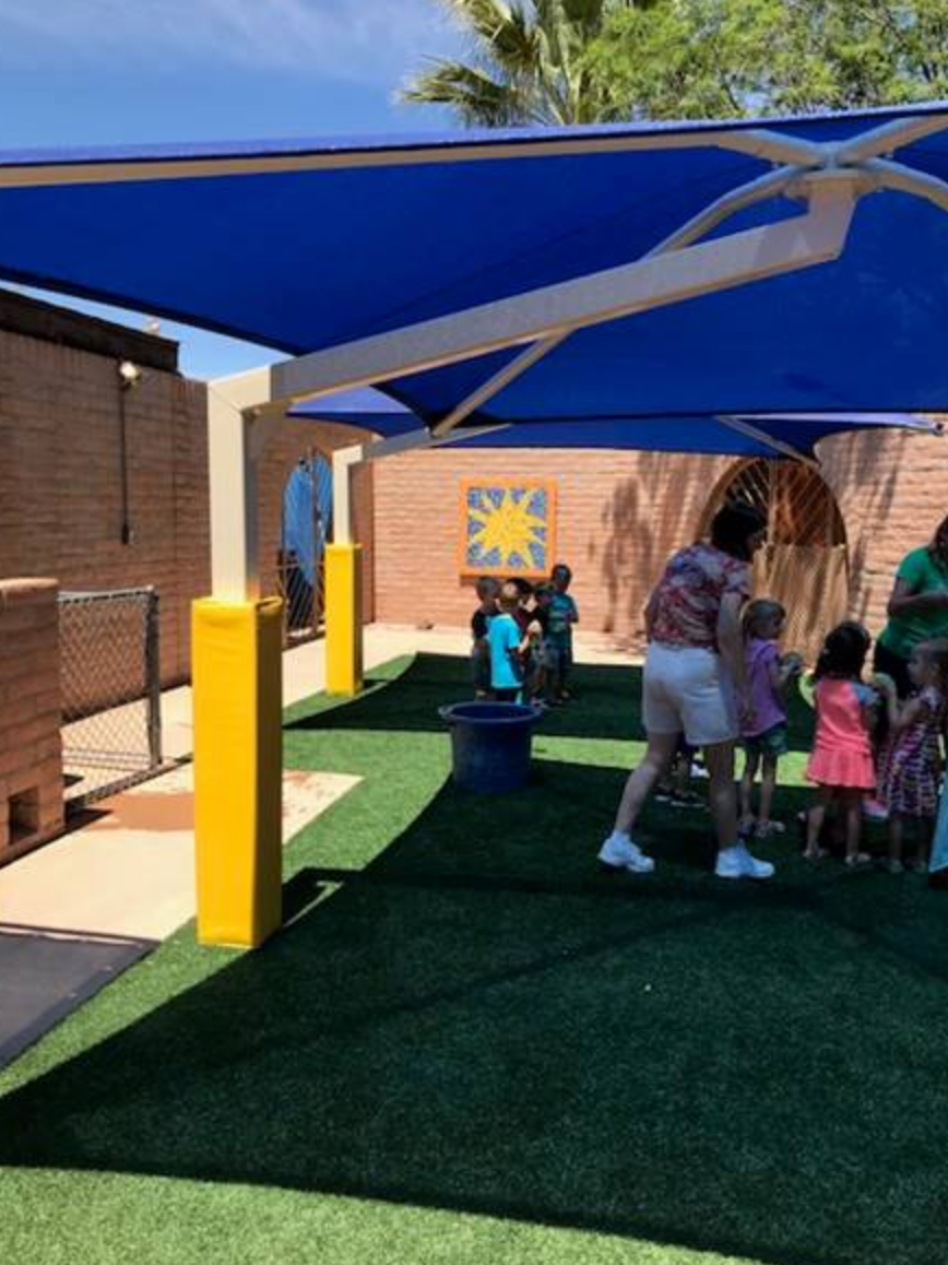 preschool playground yellow pole pad