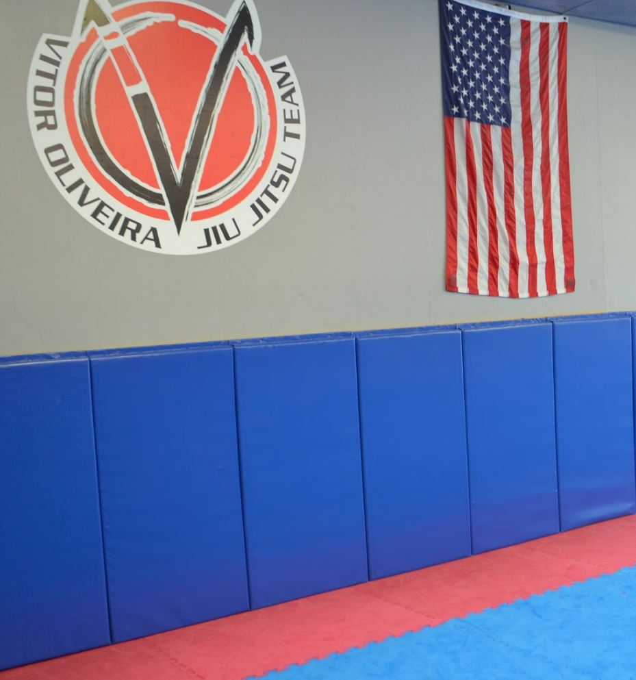 Blue bjj safety wall pads