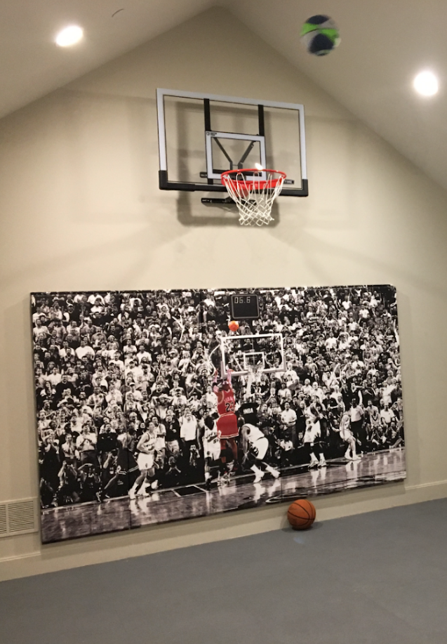 Custom Wood Backed Gym Wall Padding Panels  2' x 7'