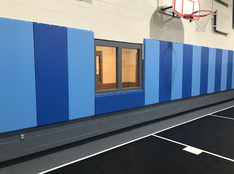 Custom Wood Backed Gym Wall Padding Panels 2' x 6'