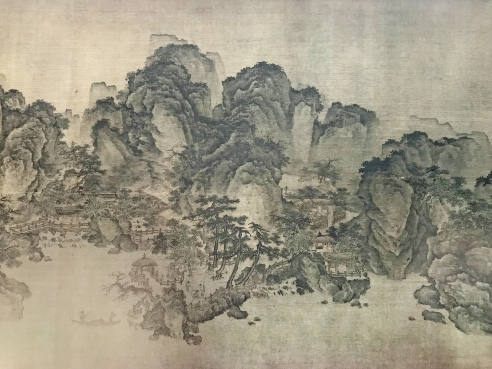 Chinese Ink Painting Removable Wall Mural 9' x 12'