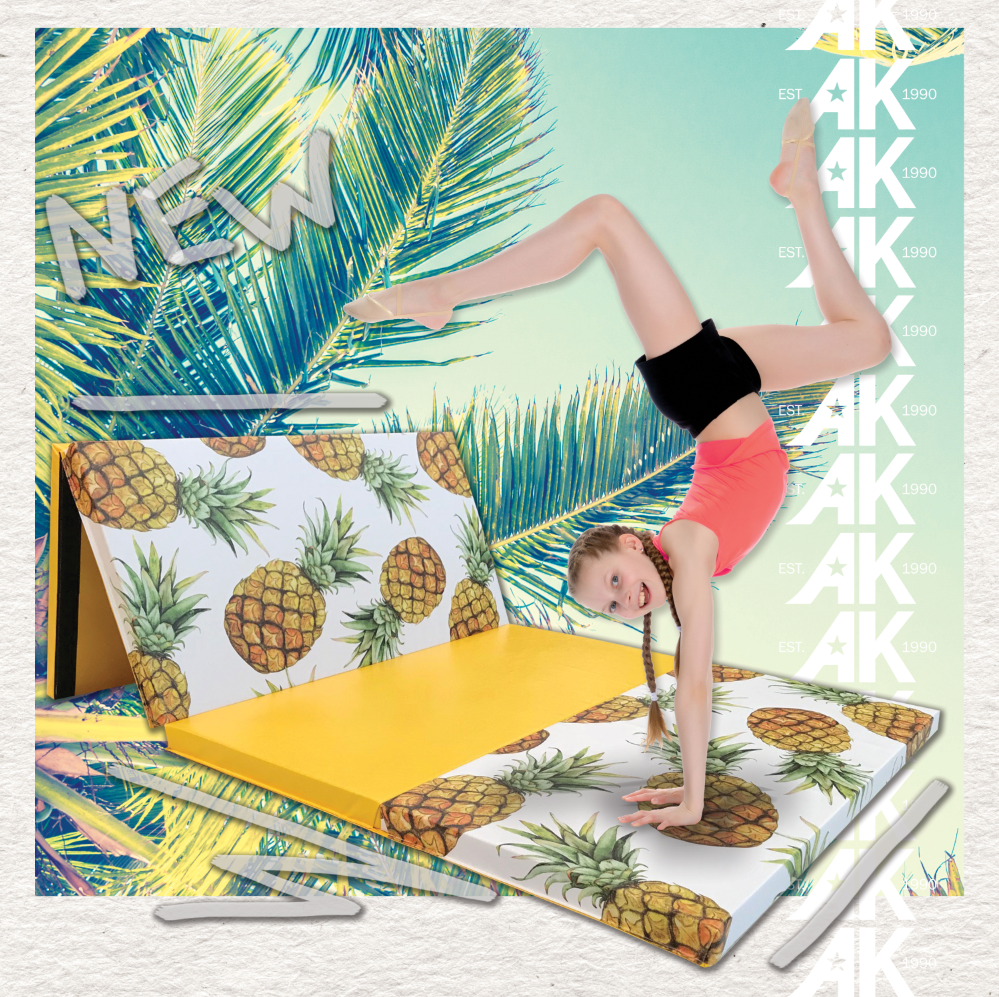 Fun pineapple home gymnastics floor mat