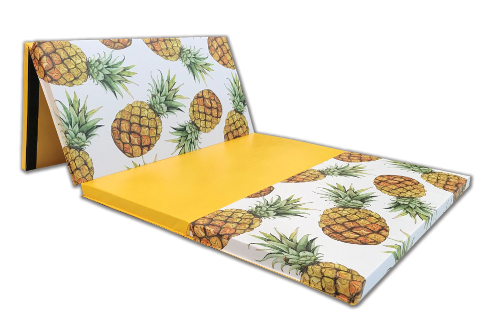pineapple design gymnastic and cheer folding mat